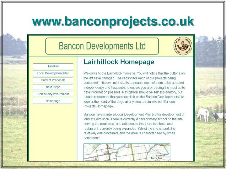www.banconprojects.co.uk