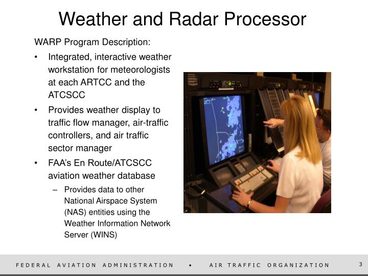 Weather and radar processor