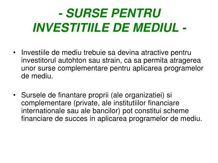- SURSE PENTRU