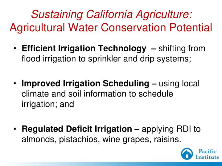Sustaining California Agriculture: