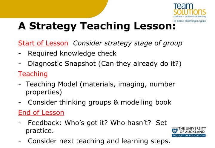 A Strategy Teaching Lesson: