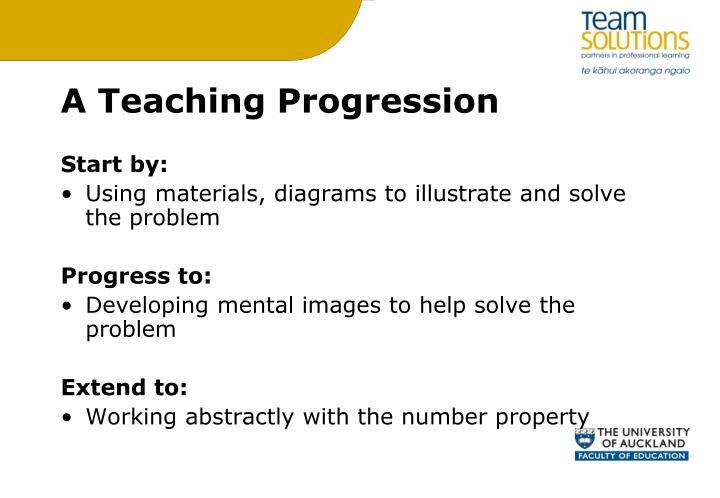 A Teaching Progression