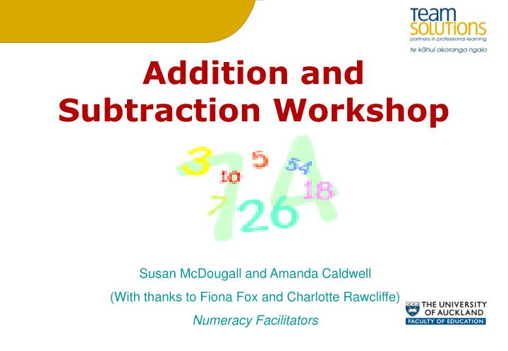 Addition and subtraction workshop
