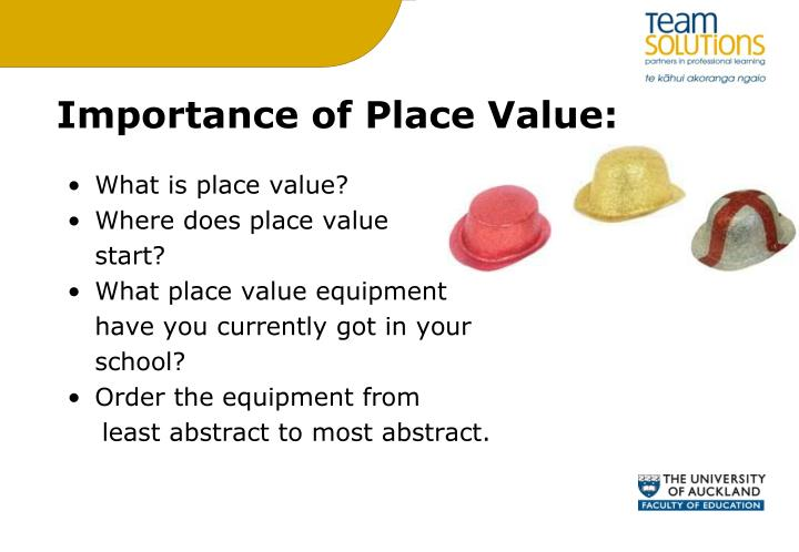 Importance of Place Value:
