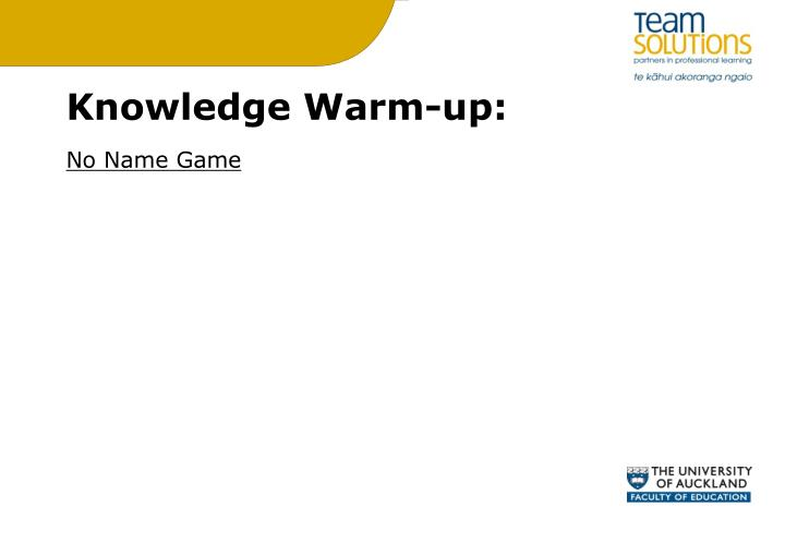 Knowledge Warm-up: