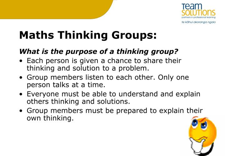 Maths Thinking Groups: