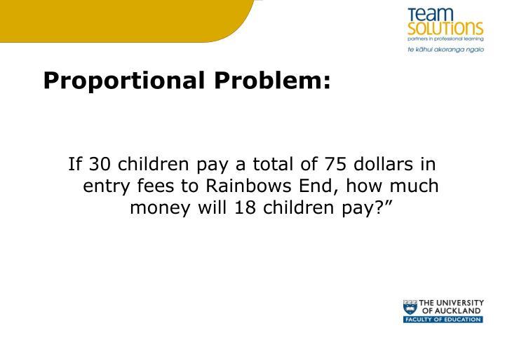 Proportional Problem: