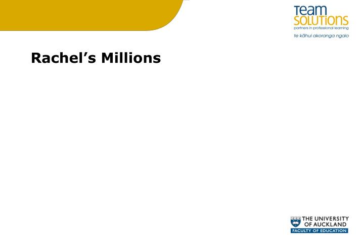Rachel's Millions