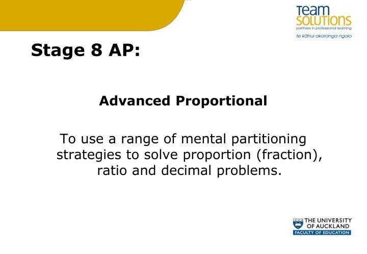 Stage 8 AP: