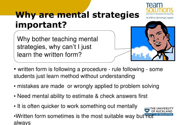 Why are mental strategies important?