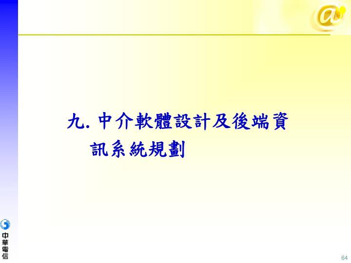 中介軟體設計及後端資訊系統規劃