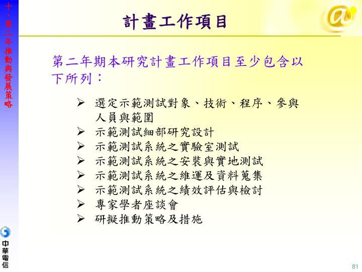 十、第二年推動與發展策略