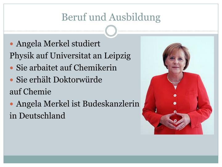 Angela Merkel Ausbildung