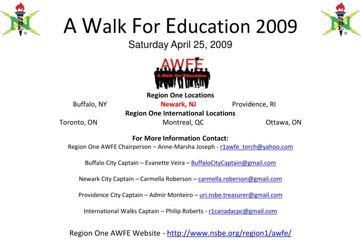 A w alk f or e ducation 2009