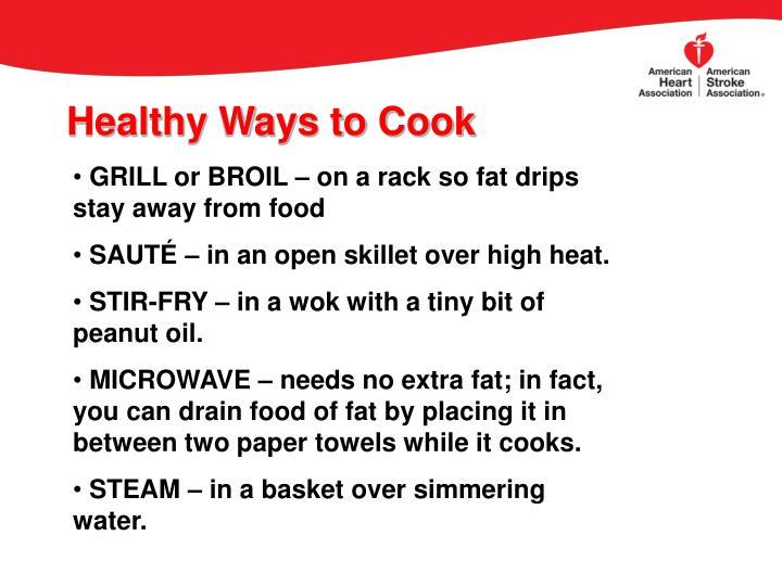 Healthy Ways to Cook