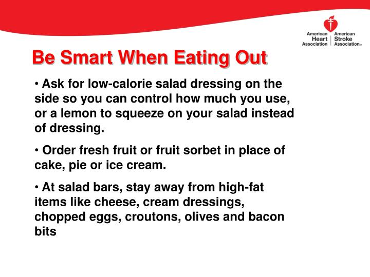 Be Smart When Eating Out