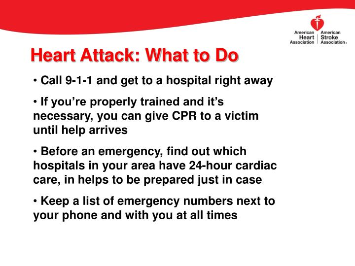 Heart Attack: What to Do
