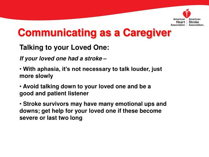 Communicating as a Caregiver