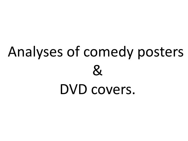 Analyses of comedy posters