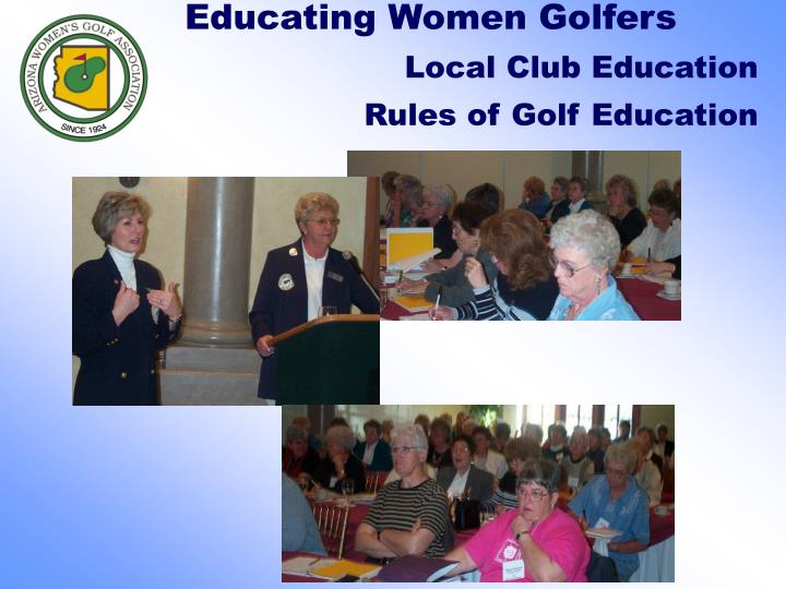 Educating Women Golfers
