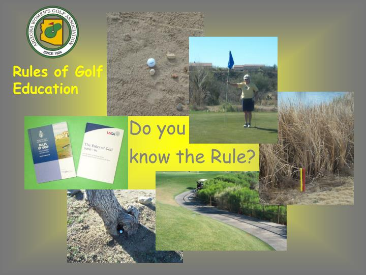 Rules of Golf Education