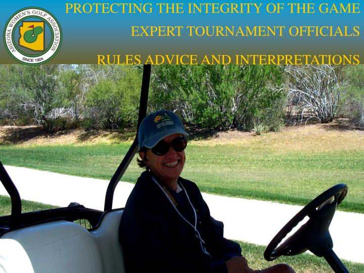 PROTECTING THE INTEGRITY OF THE GAME