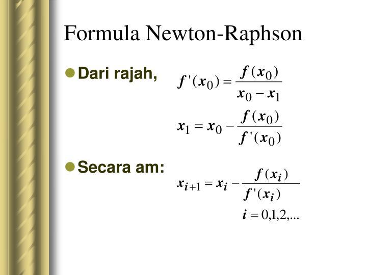 Formula Newton-Raphson