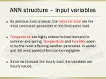 ann structure input variables