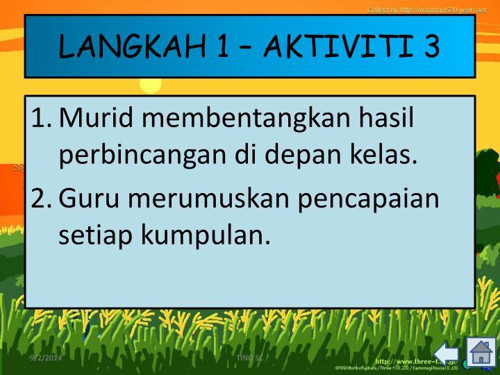 LANGKAH 1 – AKTIVITI 3