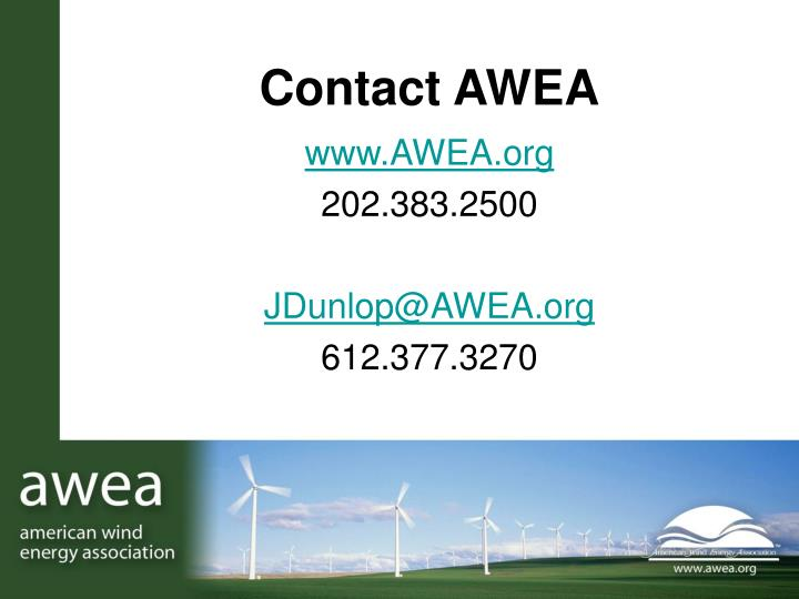 Contact AWEA