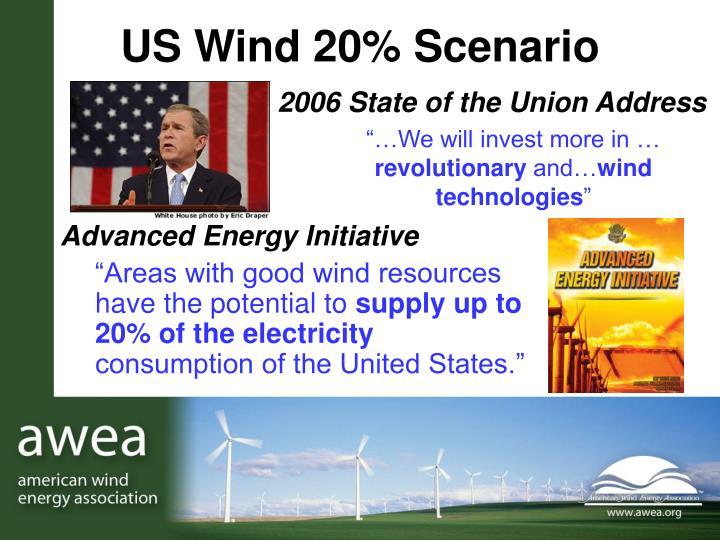 US Wind 20% Scenario