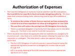 authorization of expenses1