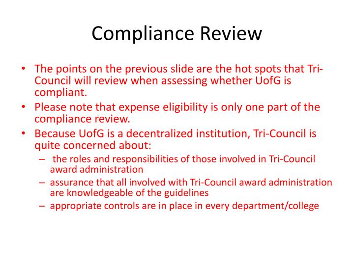 Compliance Review