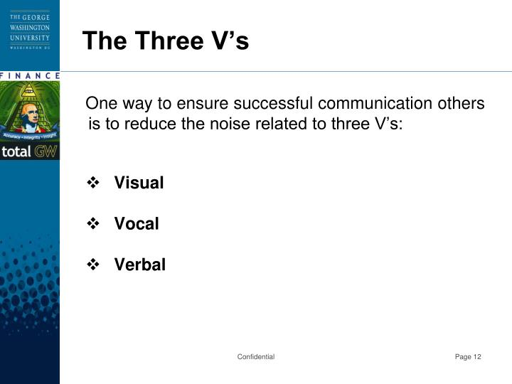 The Three V's
