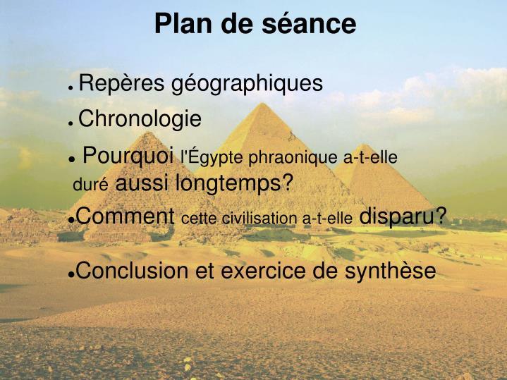 Plan de séance