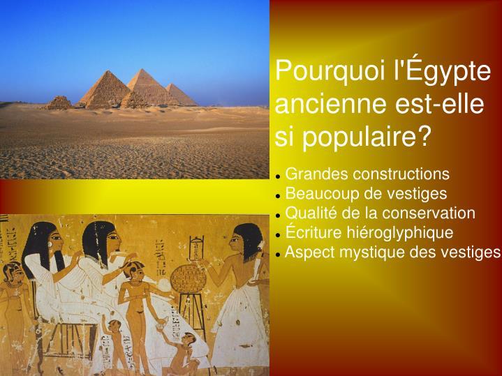 Pourquoi l'Égypte
