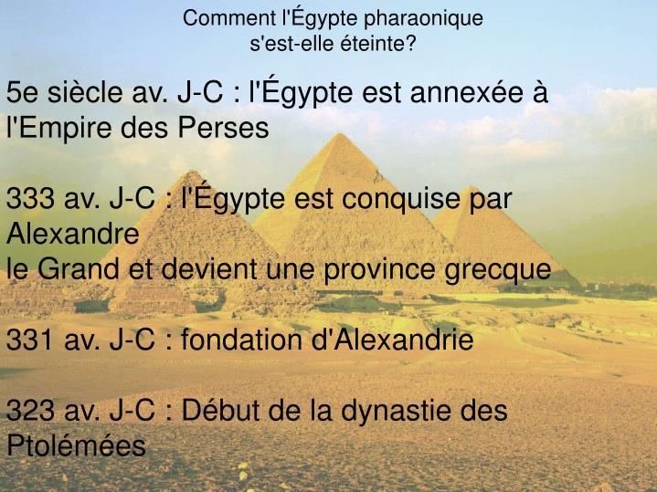 Comment l'Égypte pharaonique