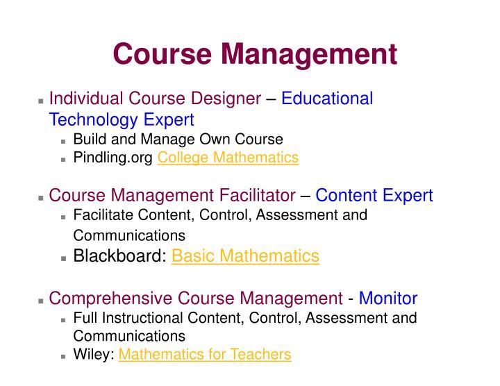 Individual Course Designer