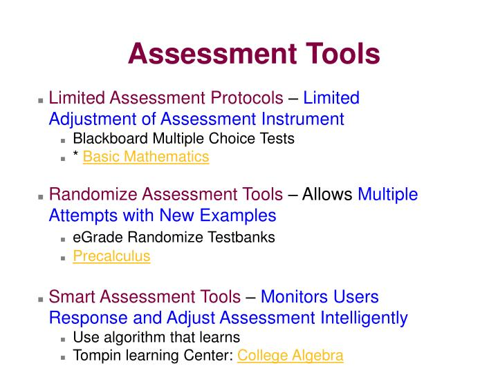 Limited Assessment Protocols