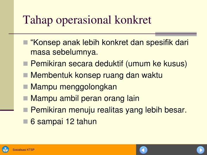 Tahap operasional konkret