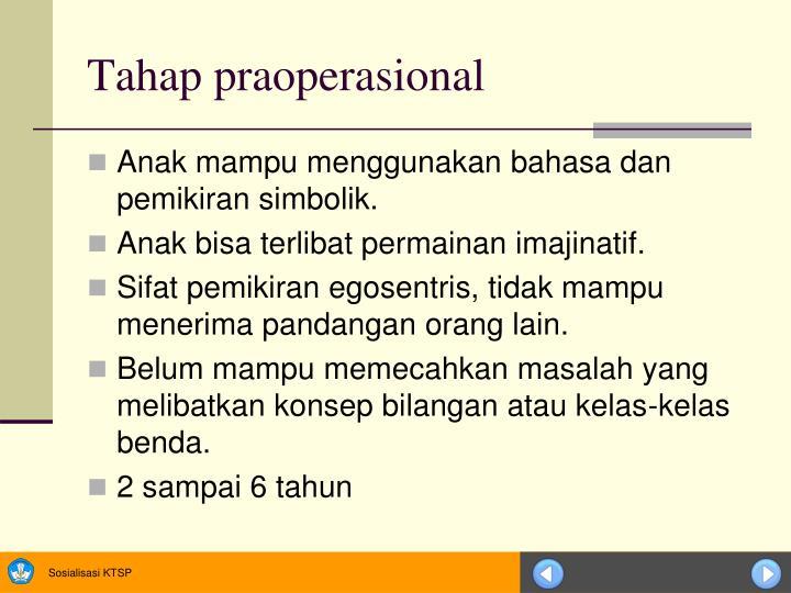 Tahap praoperasional