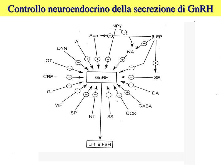 Controllo neuroendocrino della secrezione di GnRH