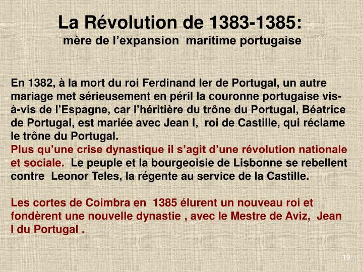 La Révolution de 1383-1385: