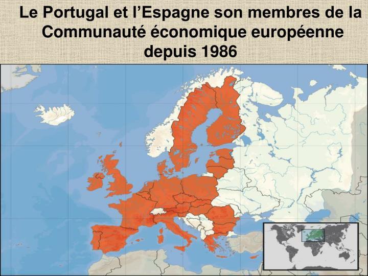 Le Portugal et lEspagne son membres de la