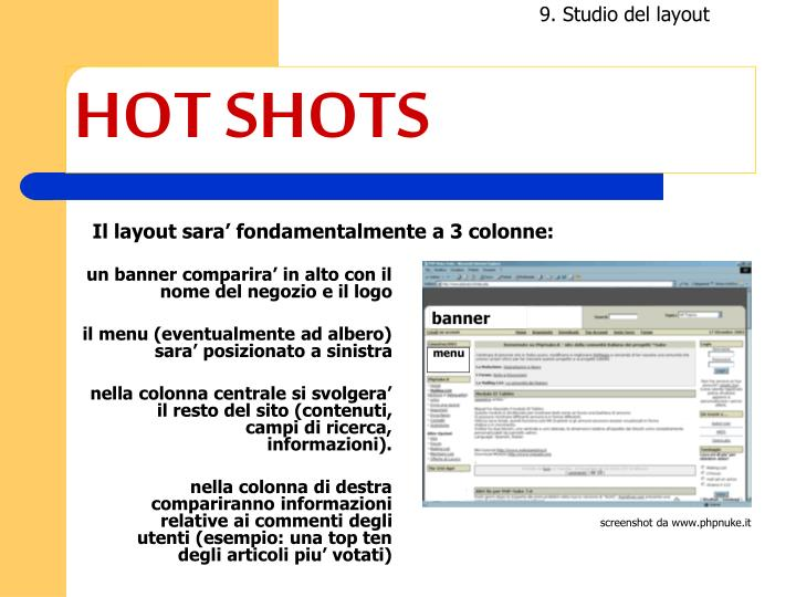 9. Studio del layout