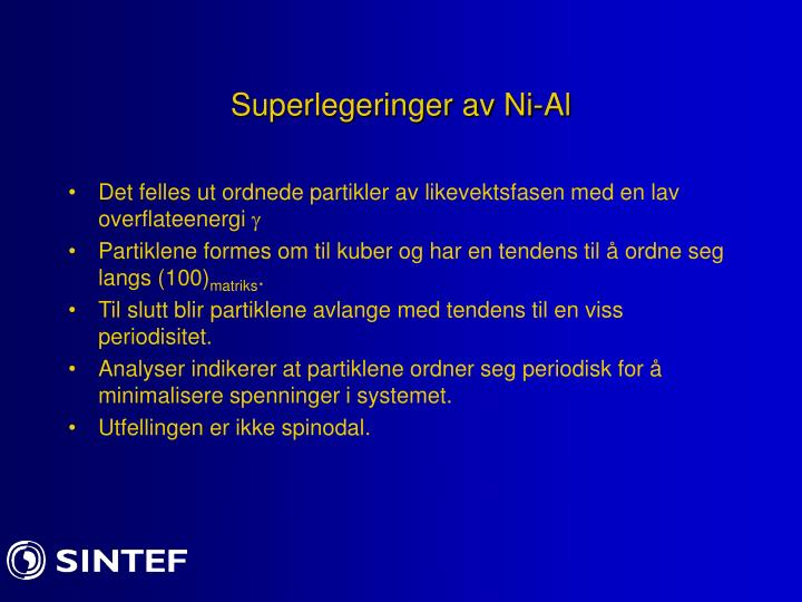 Superlegeringer av Ni-Al