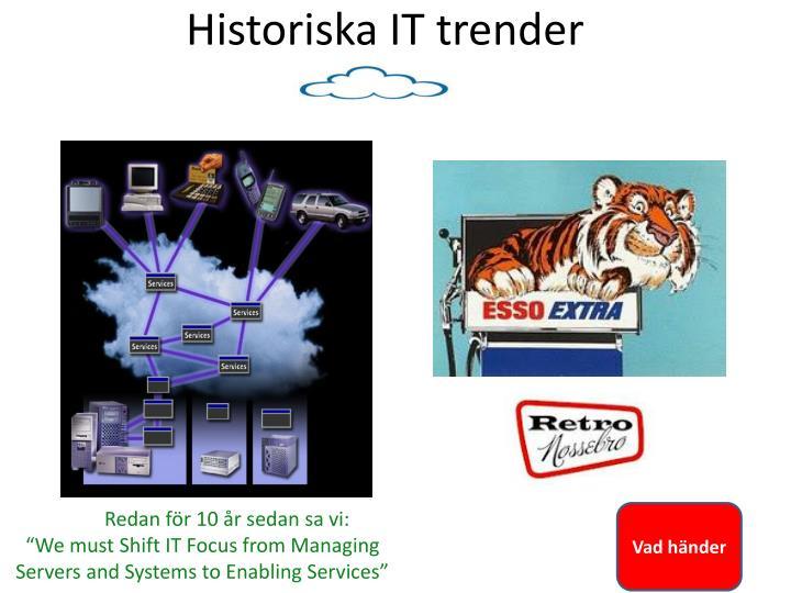 Historiska IT trender