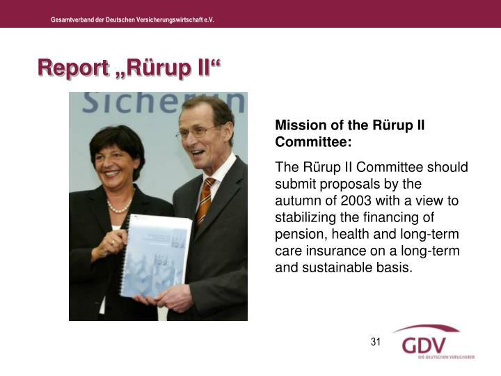 "Report ""Rürup II"""