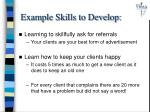 example skills to develop