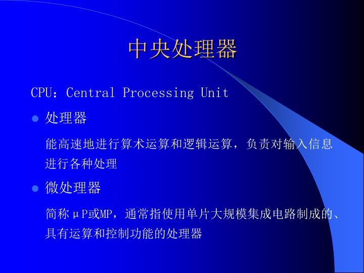 中央处理器